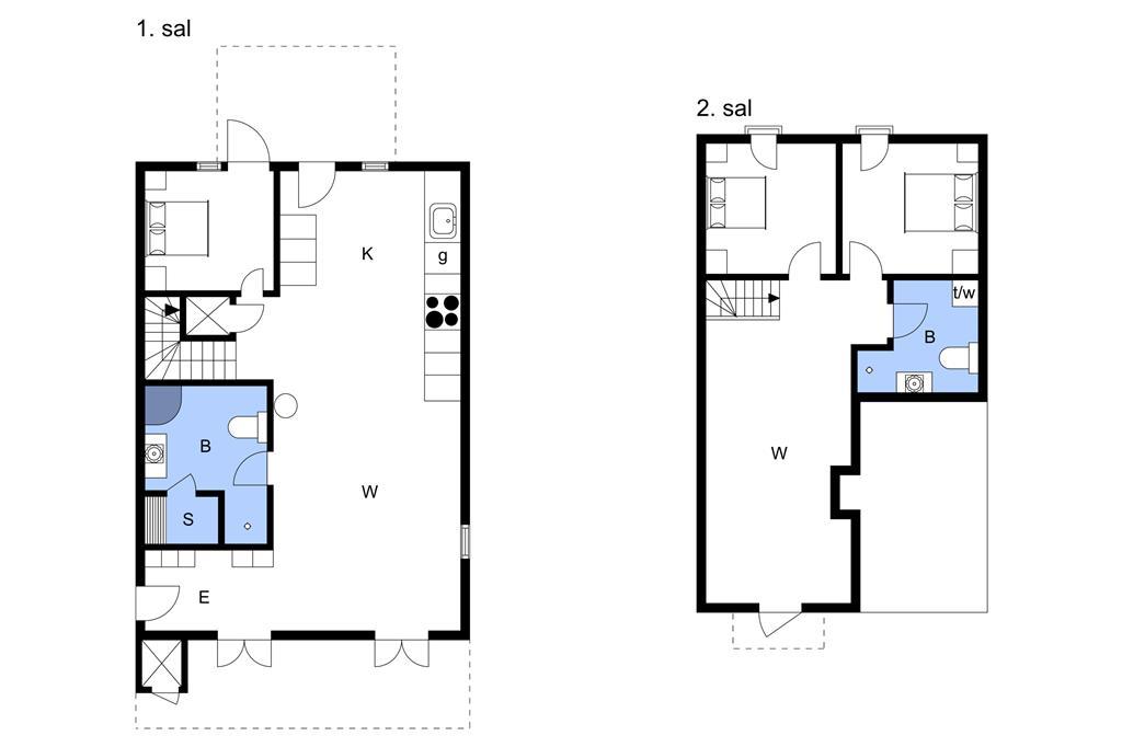 Indretning 1-3 Sommerhus M67312, Færgevej 15, DK - 5935 Bagenkop