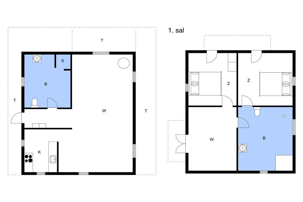 Indretning 1-11 Sommerhus 0346, Vestergade 417, DK - 6792 Rømø