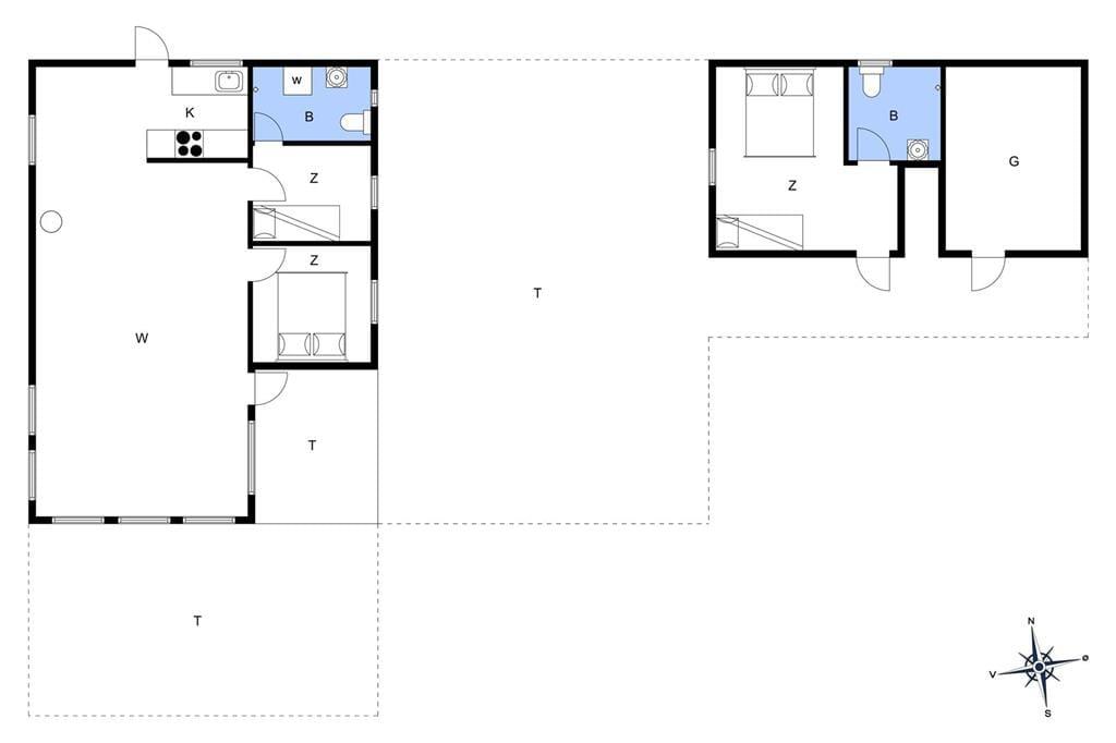 Indretning 1-401 Sommerhus HA264, Falkevej 2, DK - 9370 Hals