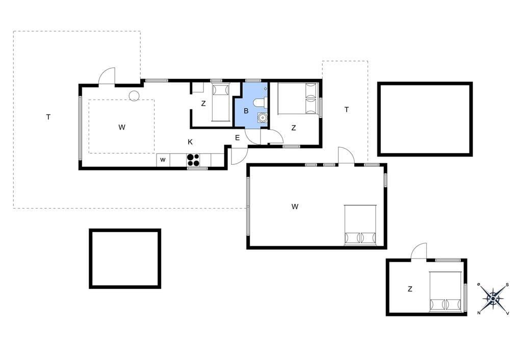Indretning 1-3 Sommerhus M64550, Erikshåb 53, DK - 5450 Otterup