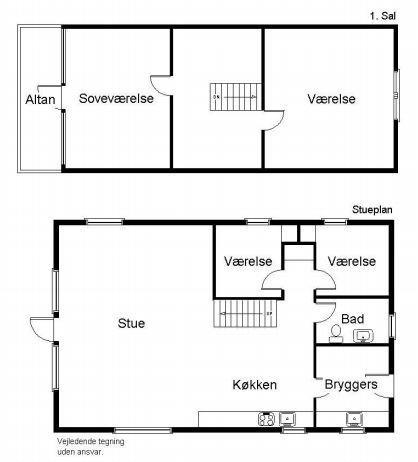Indretning 1-19 Sommerhus 30424, Ravnsager 21, DK - 8300 Odder