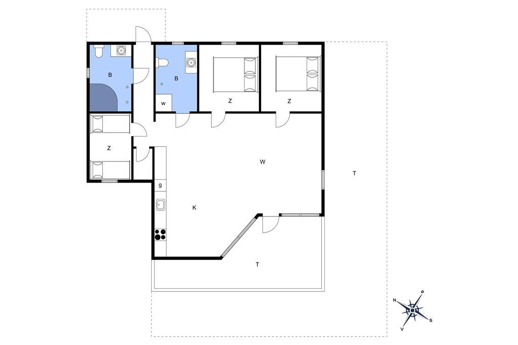 Interieur 1-11 Vakantiehuis 0100, Lakolk 121, DK - 6792 Rømø