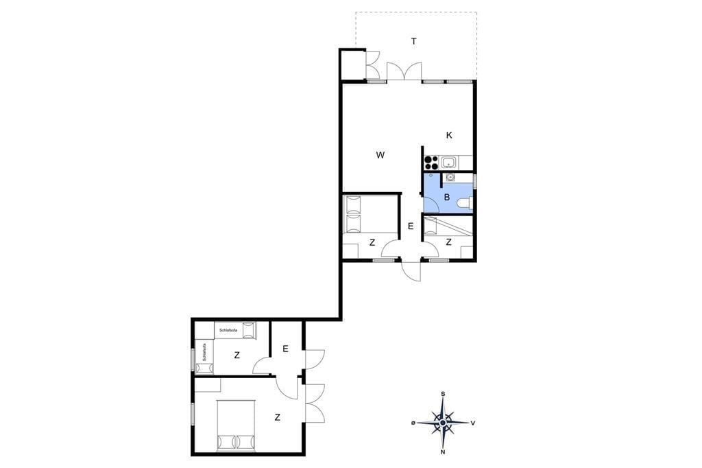 Innenausstattung 1-13 Ferienhaus 432, Gunhildsvej 2, DK - 7770 Vestervig
