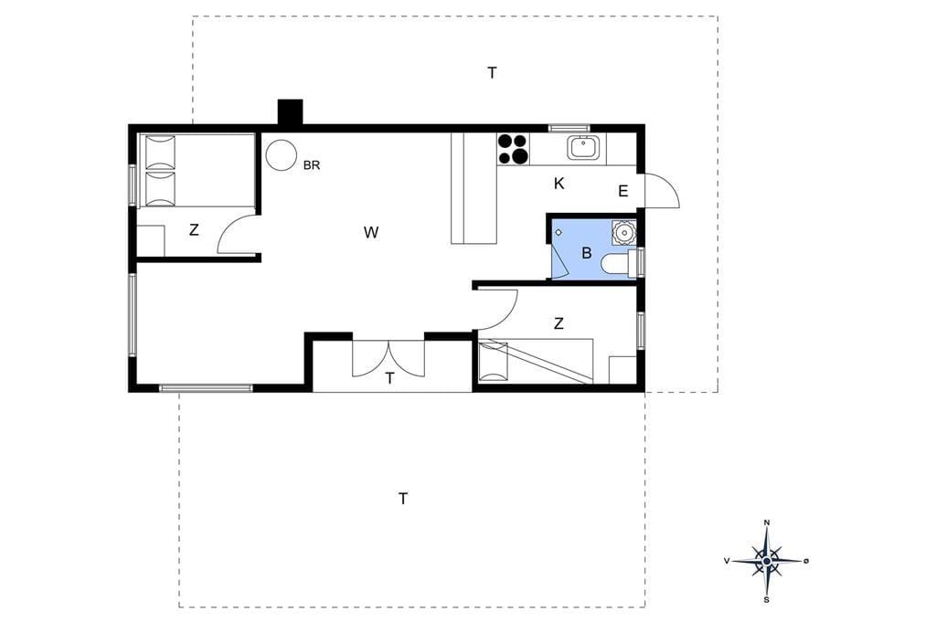 Innenausstattung 1-17 Ferienhaus 12225, Bornholmsvej 42, DK - 4583 Sjællands Odde