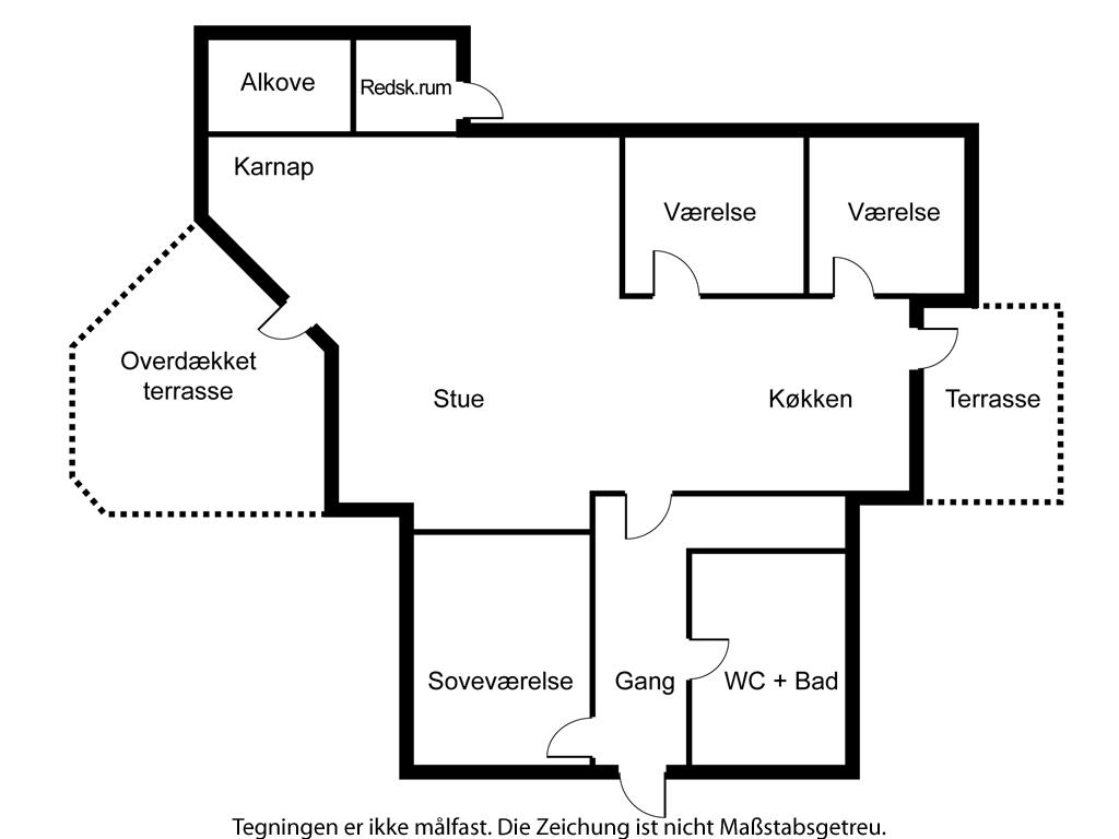 Indretning 1-6 Sommerhus N090, Krageholmsvej 72, DK - 4736 Karrebæksminde