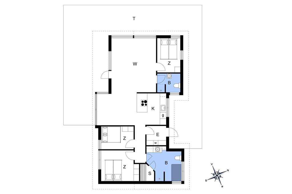 Interieur 1-14 Vakantiehuis 1521, Nordvestvej 12, DK - 9493 Saltum