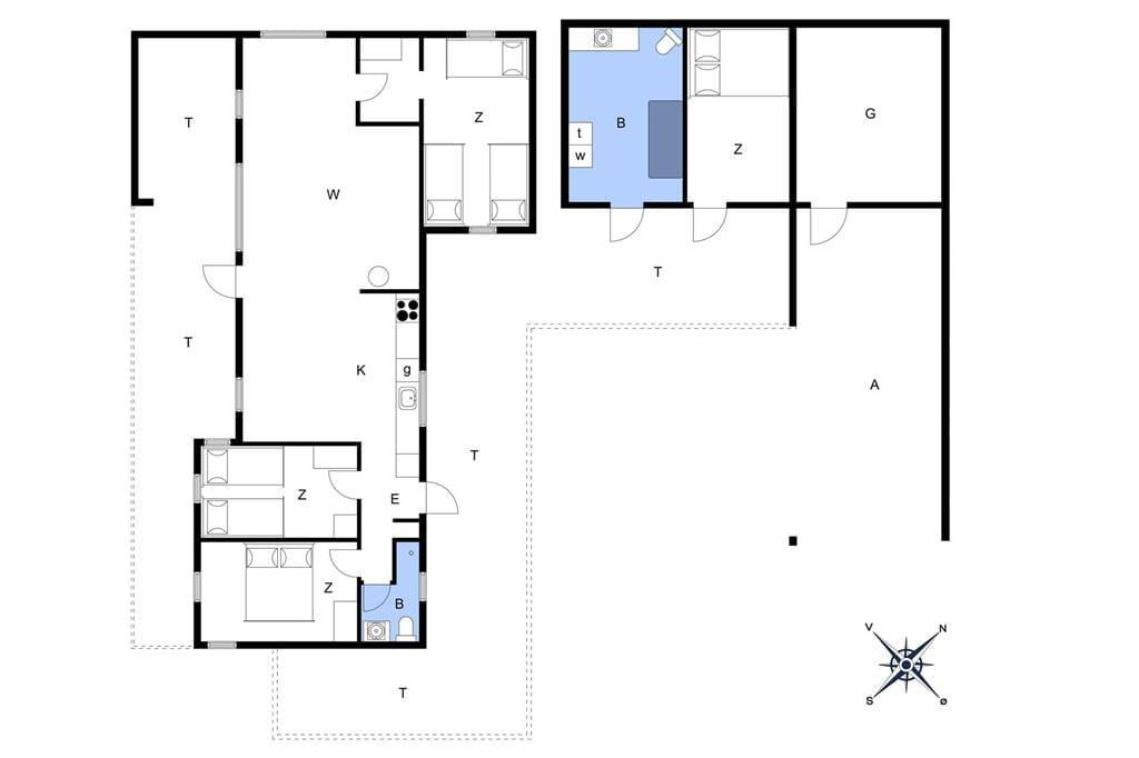 Interieur 1-176 Vakantiehuis BL233, Hunetorp Klitvej 63, DK - 9490 Pandrup