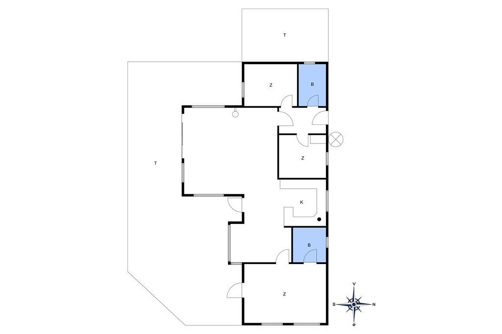 Inredning 1-10 Stuga 1316, Ellekrogen 3, DK - 3720 Aakirkeby