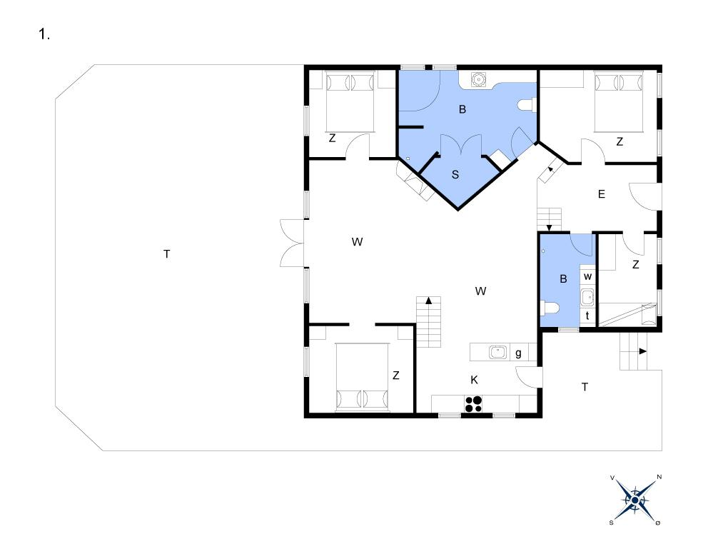 Indretning 1-13 Sommerhus 929, Brandisvej 19, DK - 7700 Thisted