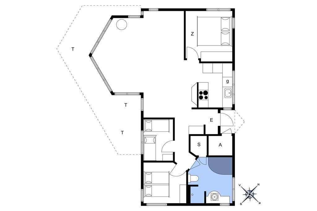 Indretning 1-174 Sommerhus M17034, Stolt Henriksvej 102, DK - 4873 Væggerløse