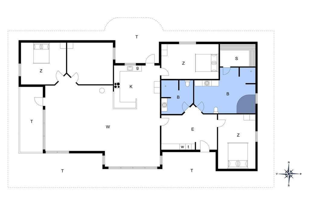 Interieur 1-172 Vakantiehuis JB251, Egevej 5, DK - 9690 Fjerritslev