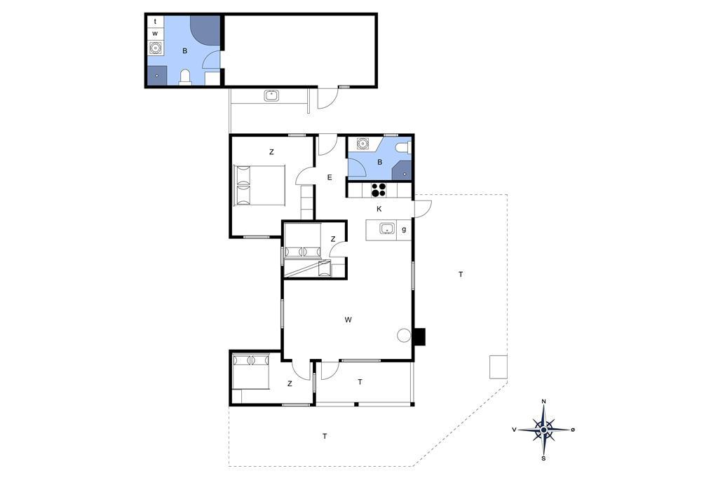 Indretning 1-23 Sommerhus 8533, Fridavej 2, DK - 8500 Grenaa