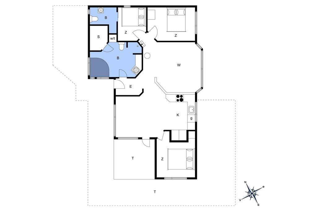 Indretning 1-13 Sommerhus 1015, Spanggårdsvej 55, DK - 7700 Thisted