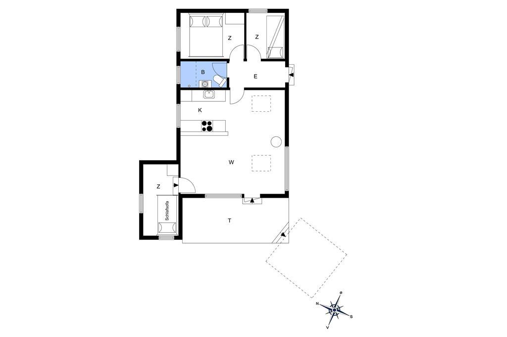 Indretning 1-26 Sommerhus SL203, Strandvænget 46, DK - 4200 Slagelse