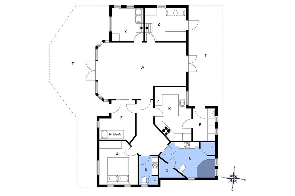 Indretning 1-14 Sommerhus 725, Klitmarkvej 22, DK - 9800 Hjørring
