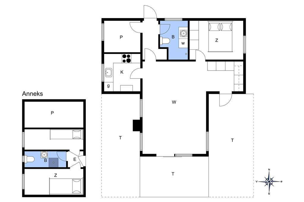 Indretning 1-14 Sommerhus 1424, Kordalsvej 79, DK - 9493 Saltum
