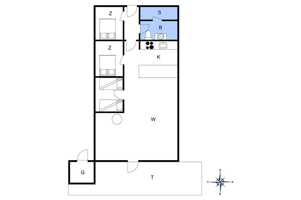 Interieur 1-20 Vakantiehuis 147, Neerlandiavej 20, DK - 7673 Harboøre