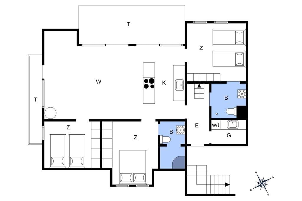 Innenausstattung 21-4 Ferienhaus 799, Strandgade 6, DK - 6960 Hvide Sande