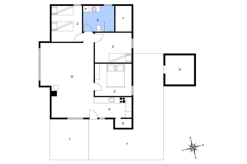 Indretning 1-13 Sommerhus 382, Kristinesvej 2, DK - 7700 Thisted