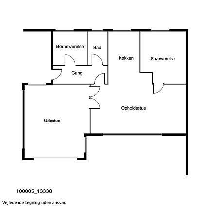 Indretning 1-17 Sommerhus 13338, Egevang 13, DK - 4500 Nykøbing Sj