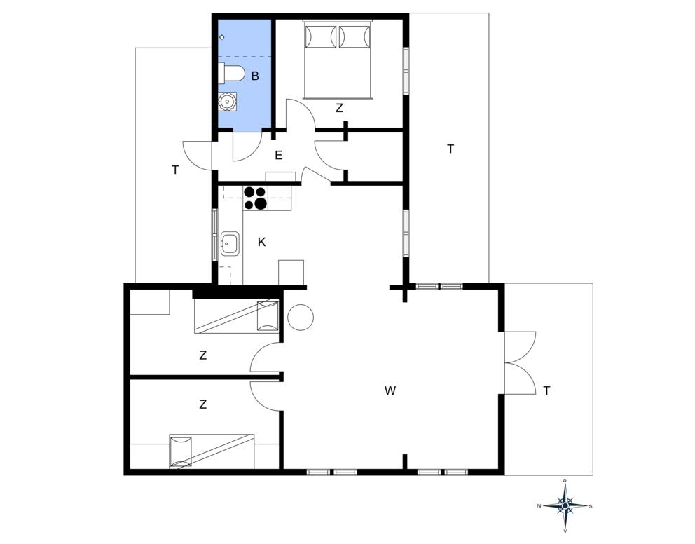 Innenausstattung 1-172 Ferienhaus JB1198, Dådyrvej 1, DK - 9460 Brovst