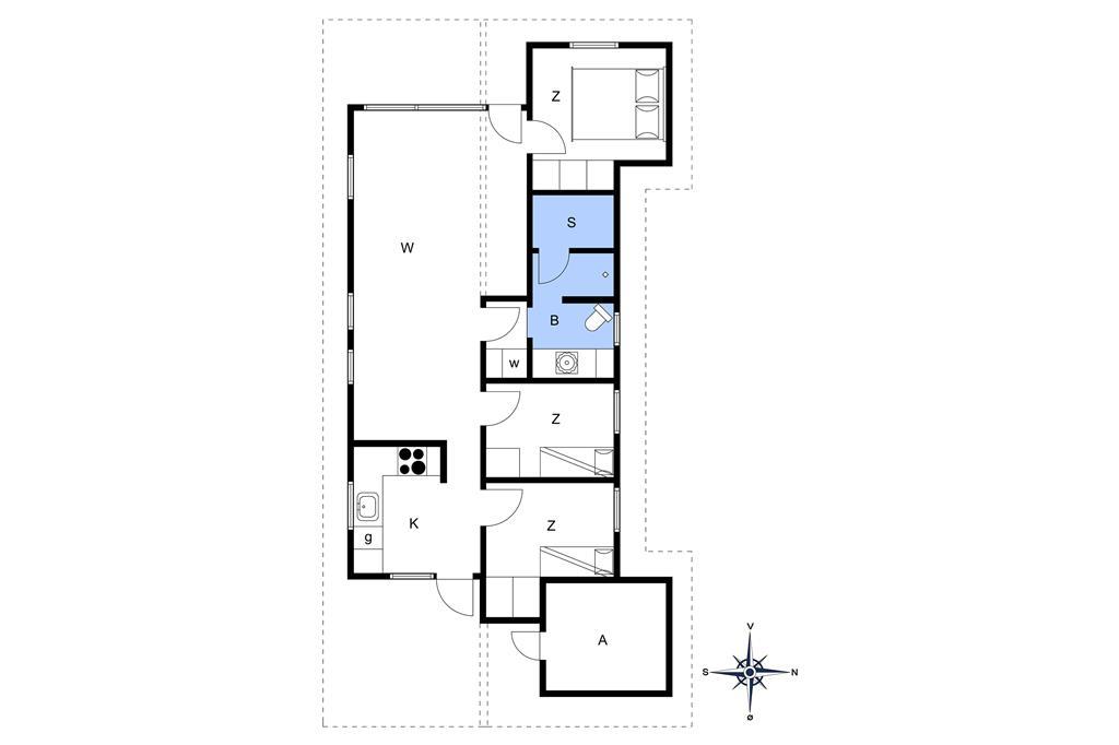 Indretning 1-14 Sommerhus 401, Lyngvej 12, DK - 9492 Blokhus