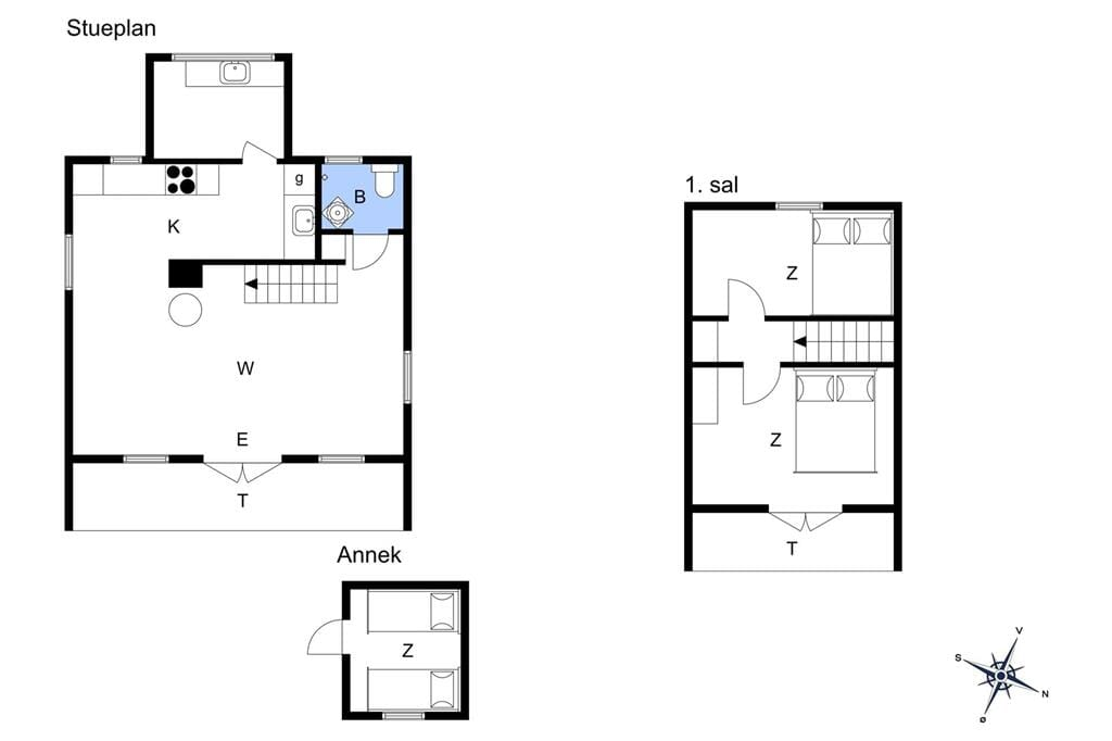 Indretning 1-17 Sommerhus 16644, Næsvej 34, DK - 4540 Fårevejle
