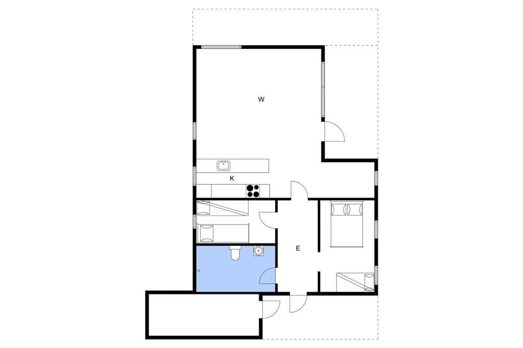 Indretning 1-3 Sommerhus L15196, Mosevej 49, DK - 7840 Højslev