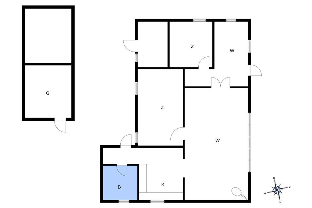 Indretning 1-10 Sommerhus 2667, Aspesgårdsskoven 17, DK - 3720 Aakirkeby