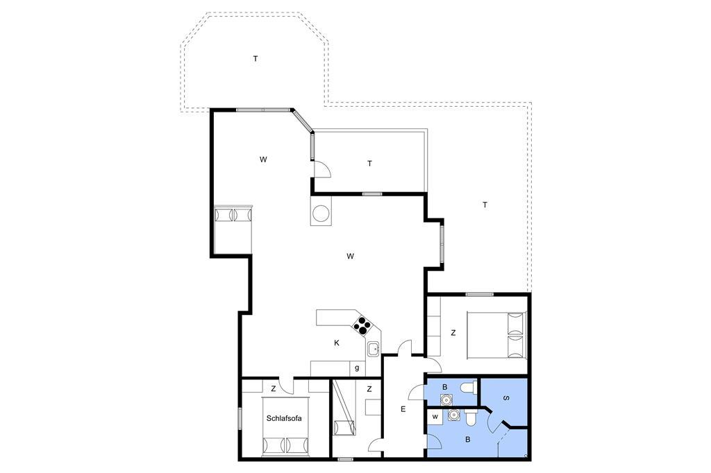 Indretning 1-19 Sommerhus 30098, Norsmindevej 171, DK - 8340 Malling
