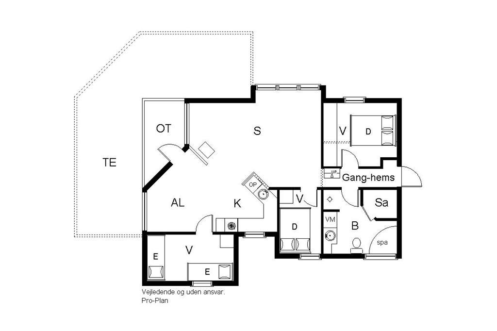 Indretning 1-19 Sommerhus 30430, Strandvænget 15, DK - 8300 Odder