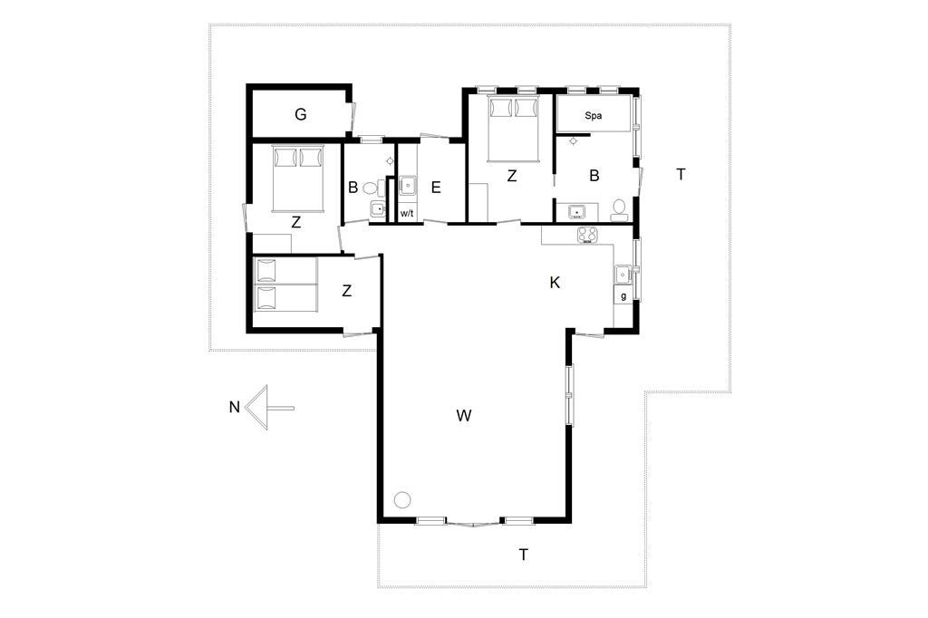 Innenausstattung 1-14 Ferienhaus 747, Graabakken 7, DK - 9493 Saltum