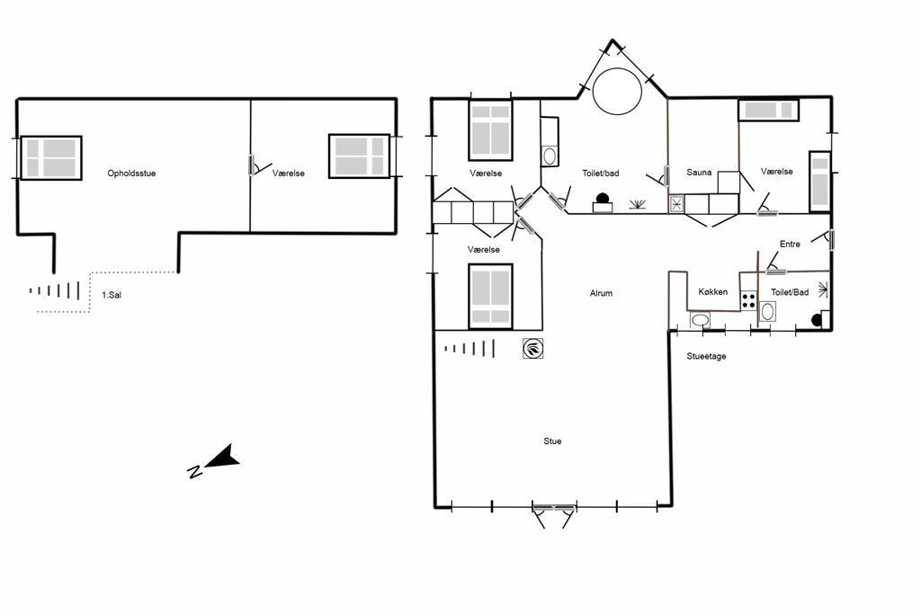 Indretning 1-125 Sommerhus 6101, Guldvangen 74, DK - 6830 Nørre Nebel