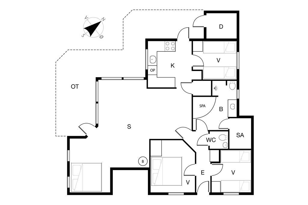 Innenausstattung 1-19 Ferienhaus 30727, Alrøvej 203, DK - 8300 Odder