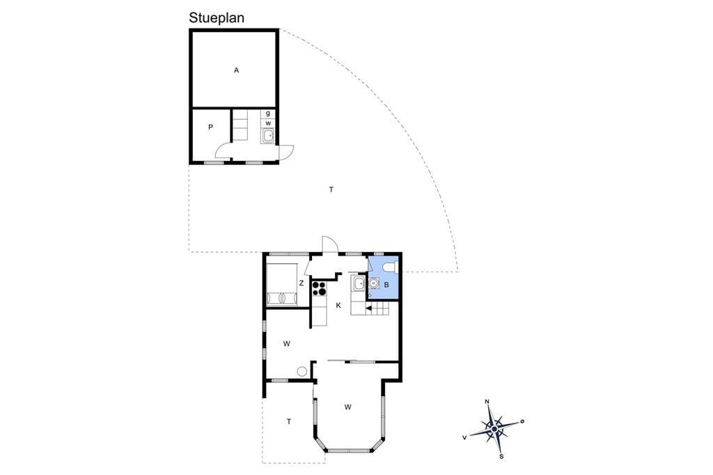 Indretning 1-19 Sommerhus 30590, Tværagervej 10, DK - 8300 Odder
