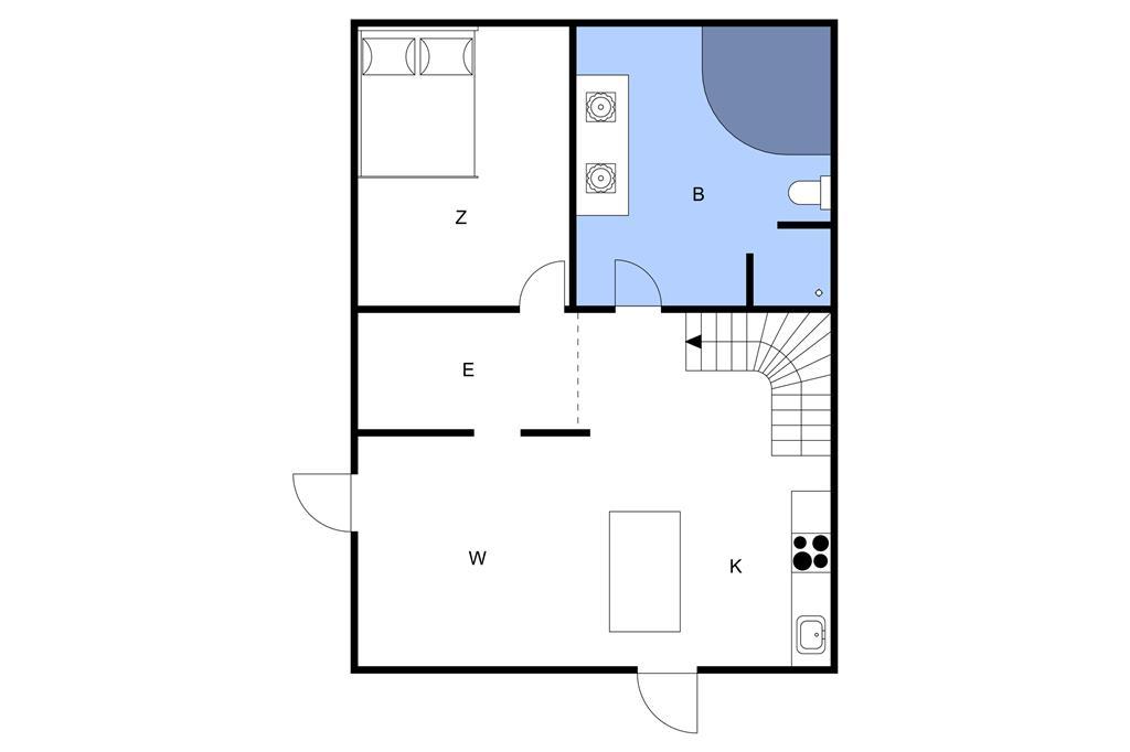 Indretning 1-11 Sommerhus 0374, Vestergade 337, DK - 6792 Rømø