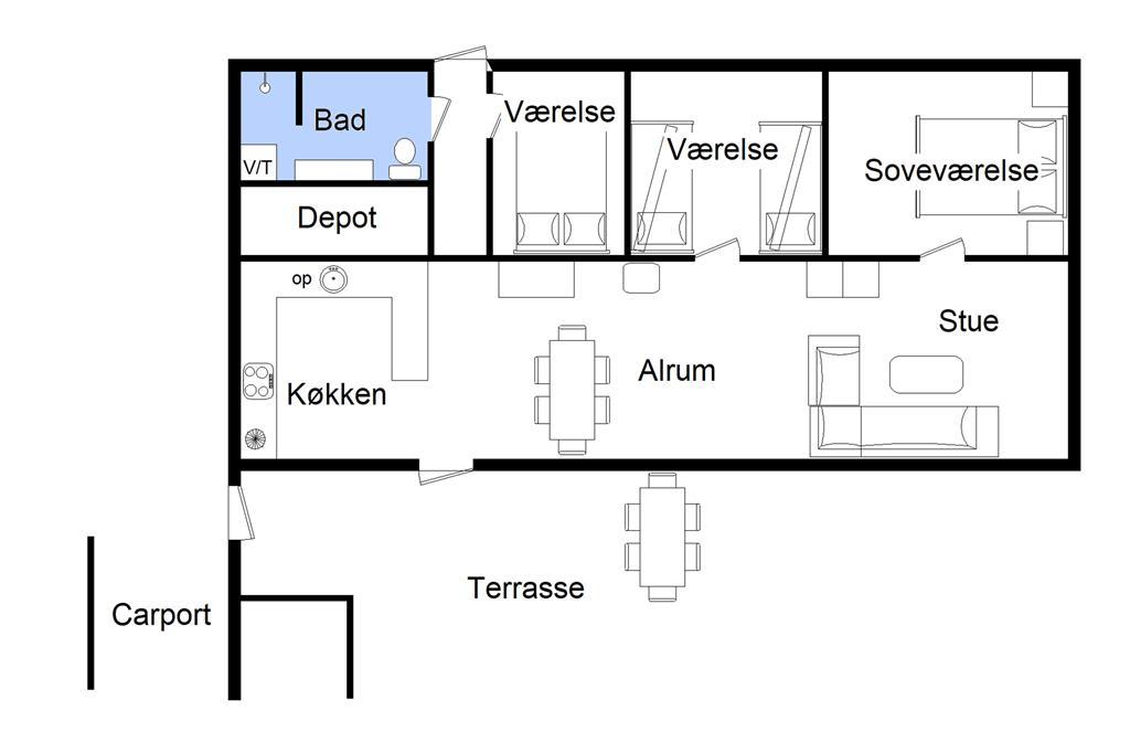 Indretning 1-22 Sommerhus C11127, Mosevænget 6, DK - 6893 Hemmet