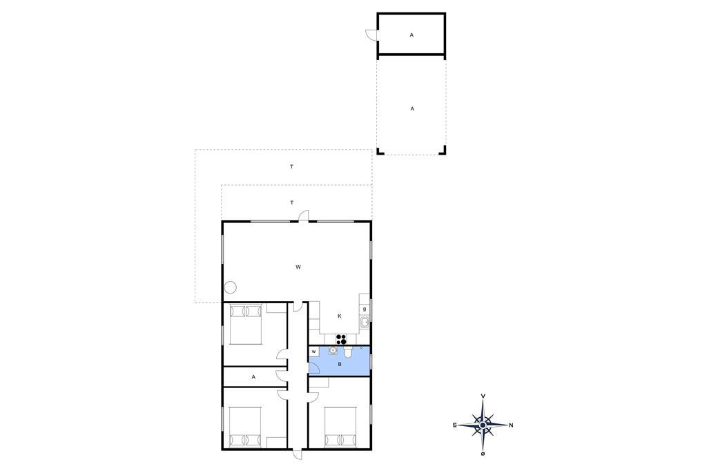 Indretning 1-3 Sommerhus F503999, Vikærparken 89, DK - 6100 Haderslev