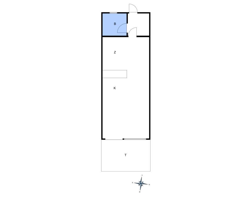 Innredning 1-10 Feirehus 5494, Sdr. Strandvej 128, DK - 3760 Gudhjem