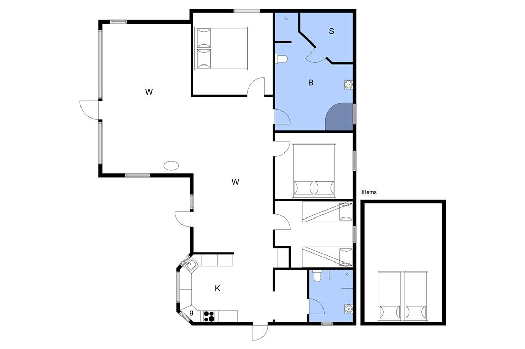 Interieur 1-3 Vakantiehuis M65274, Poppelvænget 14, DK - 5631 Ebberup