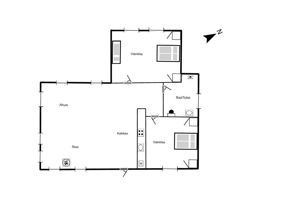 Innenausstattung 1-125 Ferienhaus 2165, Ternevej 5, DK - 6854 Henne