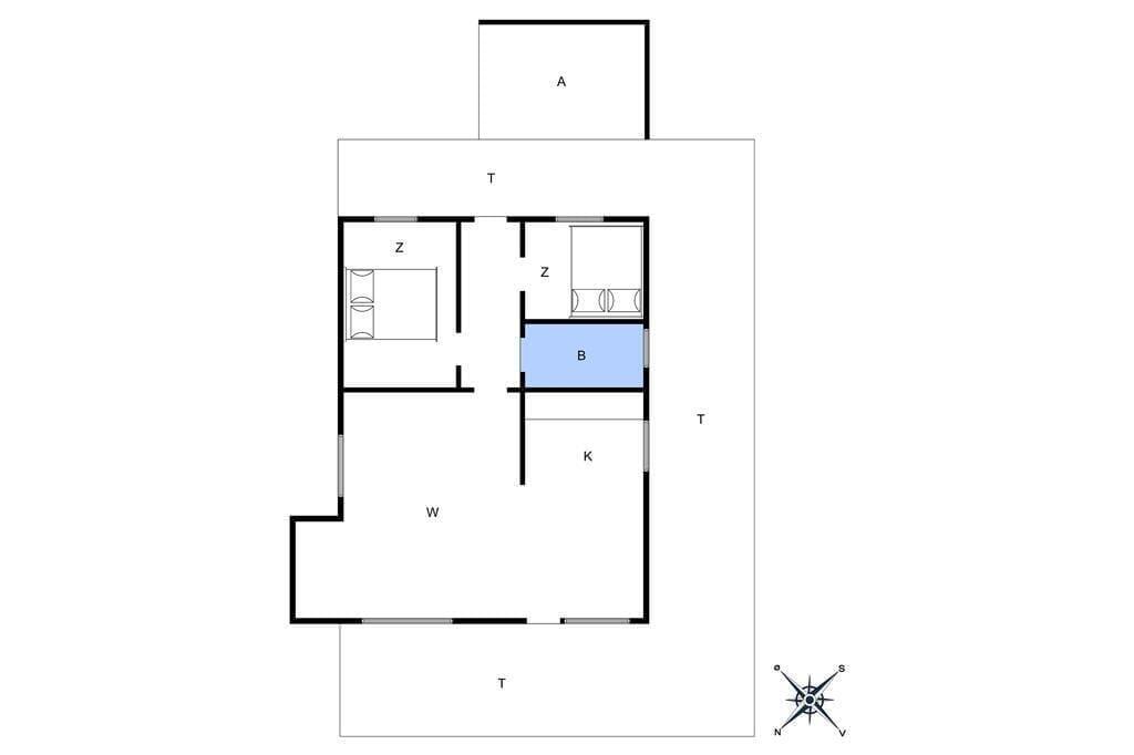 Innenausstattung 1-4 Ferienhaus 435, Granvej 51, DK - 6960 Hvide Sande