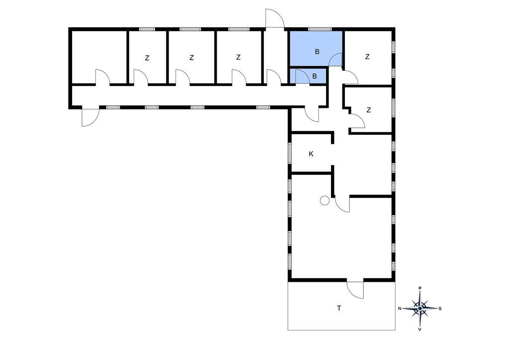 Innredning 1-10 Feirehus 4671, Bygaden 4, DK - 3720 Aakirkeby