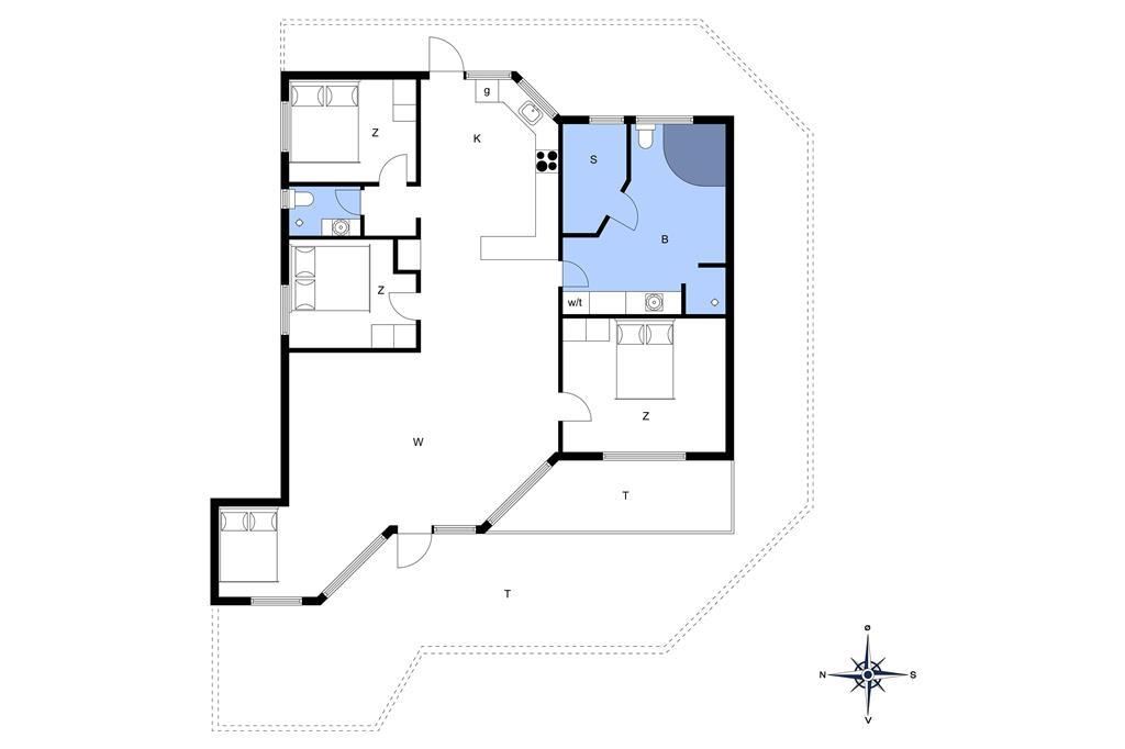 Indretning 1-14 Sommerhus 1139, Sletten 3, DK - 9492 Blokhus