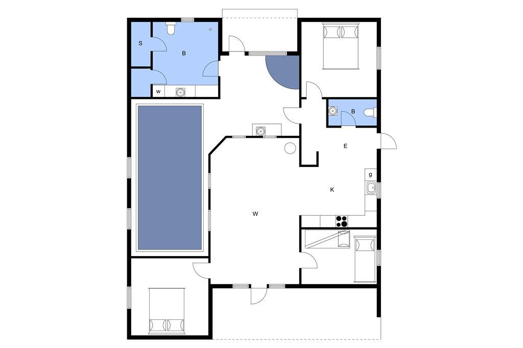 Interieur 1-3 Vakantiehuis M64228, Stjernevej 111, DK - 5500 Middelfart