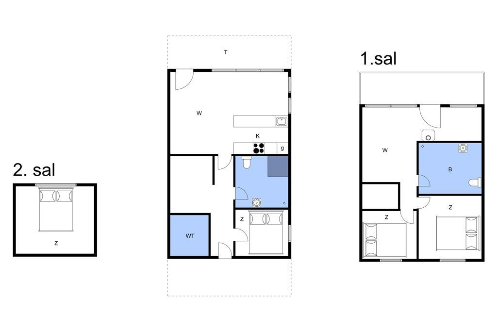 Indretning 1-11 Sommerhus 0182, Havnebyvej 61, DK - 6792 Rømø