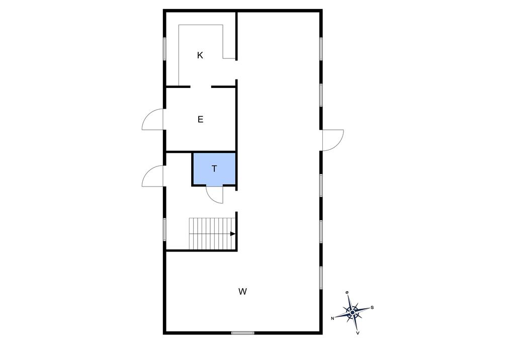 Innredning 1-10 Feirehus 4738, Ølenevej 75, DK - 3720 Aakirkeby