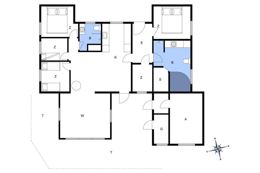 Indretning 1-11 Sommerhus 0074, Lakolk 174, DK - 6792 Rømø