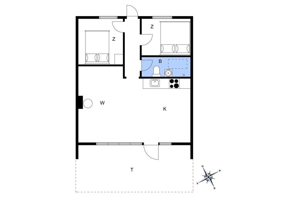Indretning 1-22 Sommerhus C11119, Rylevænget 31, DK - 6893 Hemmet