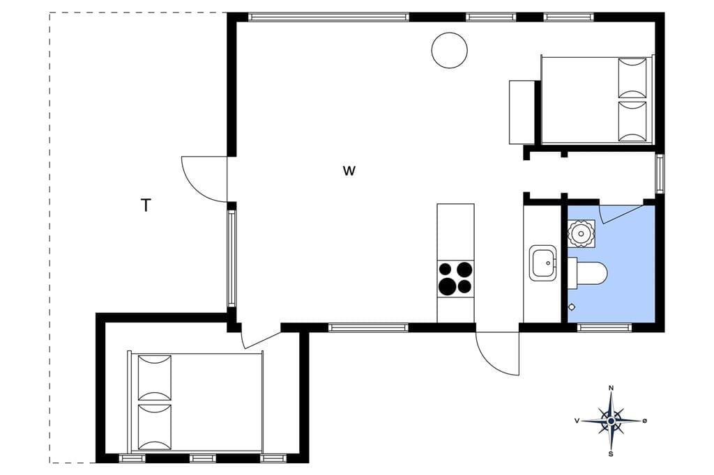 Indretning 1-1336 Sommerhus 1190-N, Egemarken 10, DK - 3210 Vejby